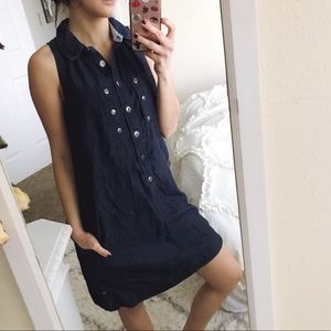 Anthropologie Holding Horses chambray Henley dress